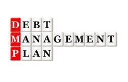 Plan de gestión de la deuda Imagen de archivo libre de regalías