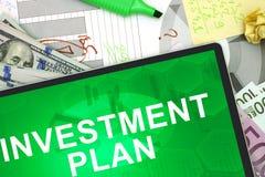 Plan de inversión Fotografía de archivo