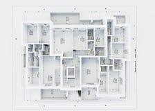 Plan de la arquitectura aislado en blanco stock de ilustración