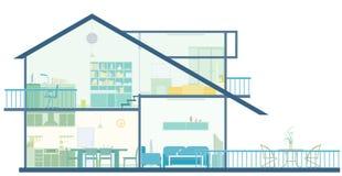 Plan de la casa ilustración del vector