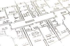 Plan de la casa Fotografía de archivo