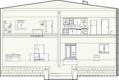 Plan de la casa Foto de archivo