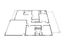 Plan de la casa Fotos de archivo