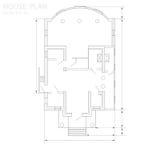 Plan de la casa Foto de archivo libre de regalías