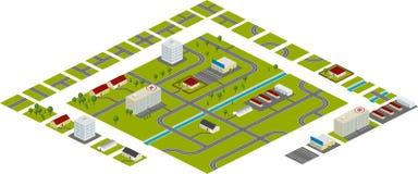Plan de la ciudad Imagen de archivo
