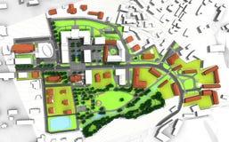 Plan de la ciudad Imagen de archivo libre de regalías