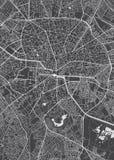 Plan de la ciudad de Bucarest, mapa detallado del vector