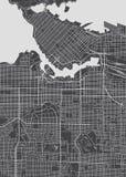 Plan de la ciudad de Vancouver, mapa detallado del vector stock de ilustración