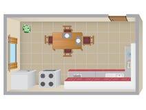 Plan de la cocina Foto de archivo libre de regalías