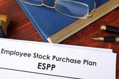 Plan de la compra de valores del empleado de ESPP imagen de archivo