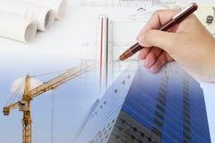 Plan de la construcción stock de ilustración