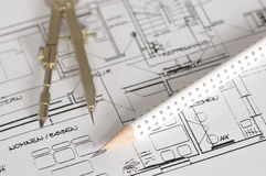 Plan de la construcción Imagenes de archivo