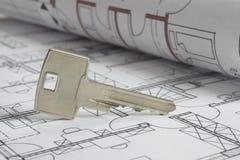 Plan de la construcción de viviendas foto de archivo libre de regalías