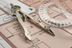 Plan de la construcción de viviendas fotografía de archivo
