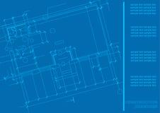 Plan de la construcción Fondo arquitectónico stock de ilustración