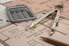 Plan de la construcción de viviendas Foto de archivo