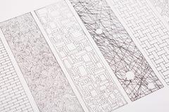 Plan de la construction avec le copyspace Fond architectural de projet Photos libres de droits