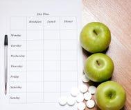 Plan de la dieta Imágenes de archivo libres de regalías