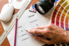 Plan de la estrategia Fotos de archivo libres de regalías
