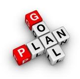 Plan de la meta Foto de archivo libre de regalías