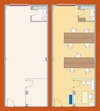 Plan de la oficina (vector) stock de ilustración