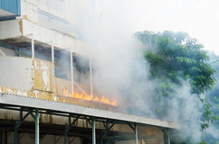 Plan de la protección contra los incendios practicantes Fotos de archivo
