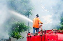 Plan de la protección contra los incendios practicantes Imágenes de archivo libres de regalías