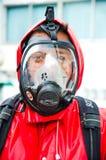 Plan de la protección contra los incendios practicantes Fotografía de archivo