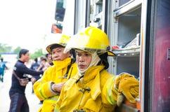 Plan de la protección contra los incendios practicantes Foto de archivo