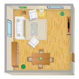 Plan de la sala de estar Fotos de archivo