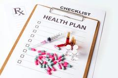 Plan de la salud Fotografía de archivo
