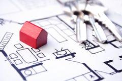 Plan de las propiedades inmobiliarias Fotografía de archivo libre de regalías