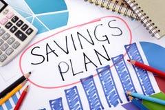 Plan de los ahorros Fotografía de archivo libre de regalías
