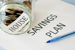 Plan de los ahorros de la casa Imagen de archivo libre de regalías