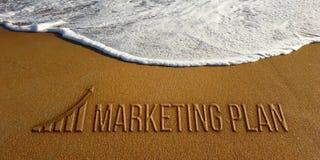 Plan de márketing en la imagen de la foto de la playa foto de archivo libre de regalías