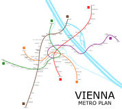Plan de métro de Vienne Photo libre de droits