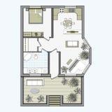 Plan de piso arquitectónico del color ilustración del vector