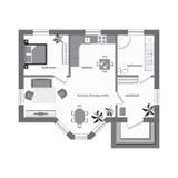 Plan de piso arquitectónico del color Fotos de archivo