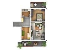 plan de piso 3d libre illustration