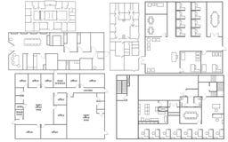 Plan de piso de la oficina ilustración del vector