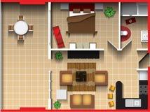 Plan de piso del vector Foto de archivo libre de regalías