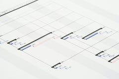 Plan de projet Photos stock