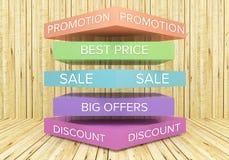 Plan de promotion Images stock