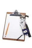 Plan de reparación casero Imágenes de archivo libres de regalías
