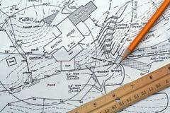 Plan de sitio Fotografía de archivo