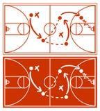 Plan de stratégie de basket-ball illustration de vecteur