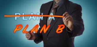 PLAN A de Striking Out de directeur pour activer le PLAN B image stock