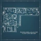 Plan de suelo arquitectónico ilustración del vector