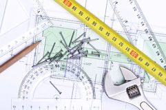Plan de suelo de arriba fotografía de archivo libre de regalías