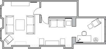 Plan de suelo de la configuración Fotografía de archivo libre de regalías